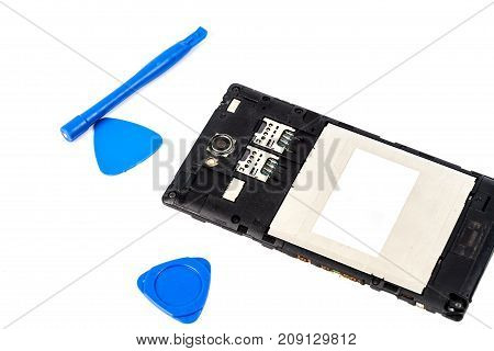 Tool For Repair Mobile Or Smartphone On White