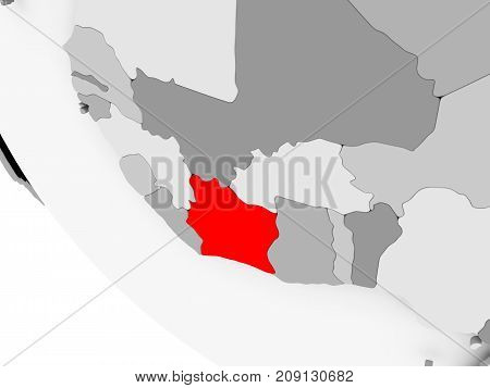 Map Of Ivory Coast In Red