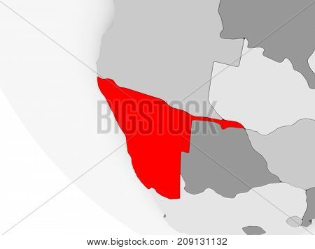 Map Of Namibia In Red