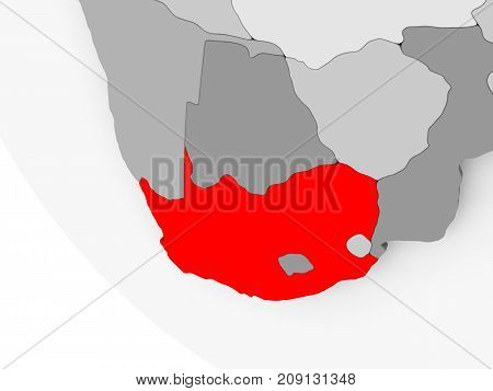 Map Of South Africa In Red