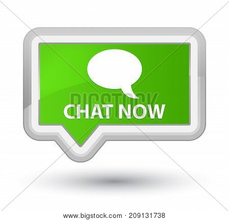 Chat Now Prime Soft Green Banner Button