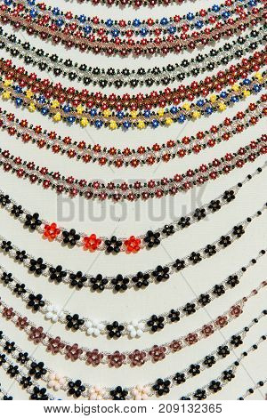 Beaded Necklaces Made With Traditional Romanian Glass Bead