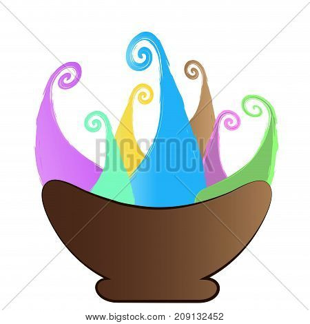Isolated abstract ice cream icon on a white background, Vector illustration