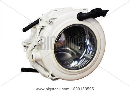 Stainless Steel Drum Of A Washing Machine.