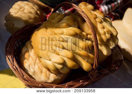 Handmade Cheese In Farmer's Market