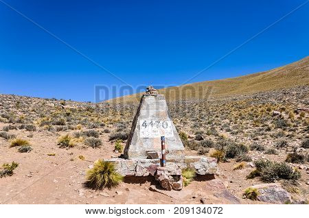 High altitude in mountain in Argentina at 4170 meters above the sea