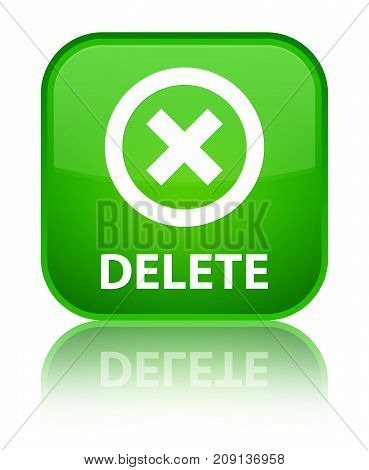 Delete Special Green Square Button
