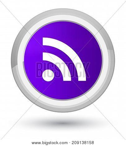 Rss Icon Prime Purple Round Button