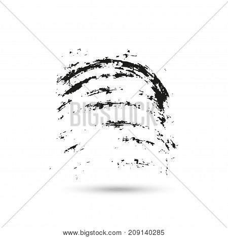 Hand drawn grunge brush strokes isolated on white background with shadow frames for text or quote.