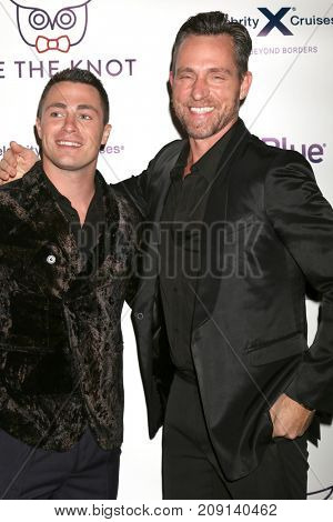 LOS ANGELES - OCT 12:  Colton Haynes, Jeff Leatham at the Tie The Knot Celebrates 5-Year Anniversary at the NeueHouse on October 12, 2017 in Los Angeles, CA