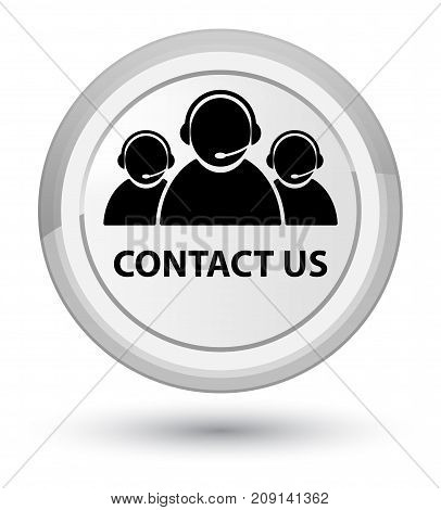 Contact Us (customer Care Team Icon) Prime White Round Button