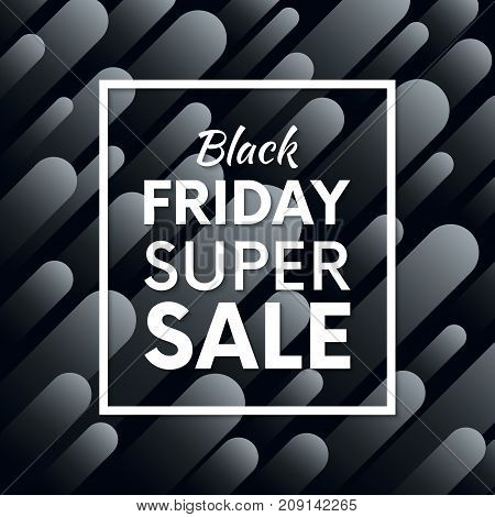 Black Friday Sale Typography. Special Offer Banner With Abstract Dynamic Background Vector Design.