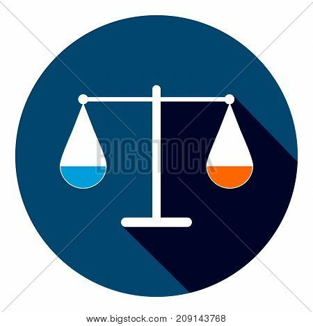 Modern And Simple Flat Vector Illustration. Icon Of Justice. An Image In The Form Of Scales With Bow