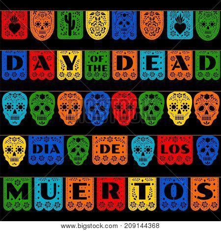Mexican bunting for Day of the Dead, Dia de los Muertos