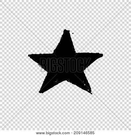 Grunge star. Dirty Artistic Design Element. Vector illustration.
