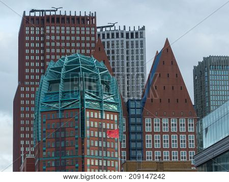 The Hague the Netherlands - 12 October 2017: the city of The Hague