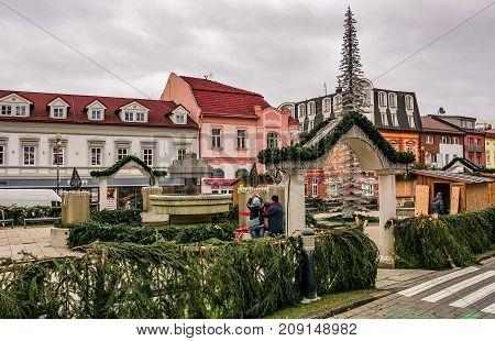 Poprad Town Preparing For Christmas