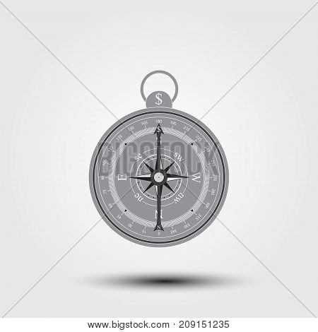 Compass Icon With Dollar Sign. World Stock Exchange. Stock  Graphics.