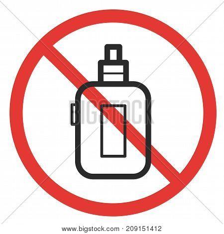 prohibitory sign vaping ban e-cigarette isolated vapor