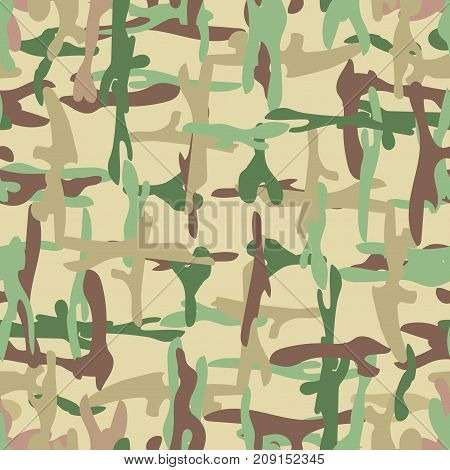 Camo seamless pattern. Military camouflage. Vector illustration