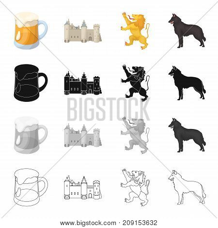 Holiday, attributes, nation, and other  icon in cartoon style.Glass, beverage, beer icons in set collection