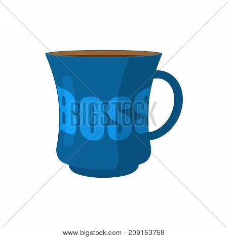 Mug Of Boss Isolated. Pot Of Director. Vector Illustration