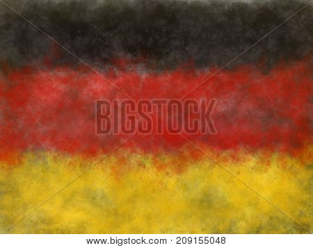 abstract painted background illustration - flag germany