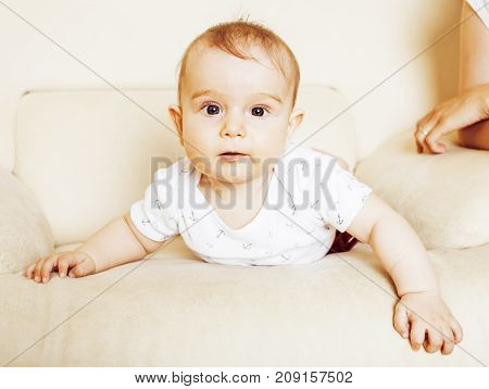 father carrying clothers for baby todler little son crying, unhappy, mom with kid daily routine, lifestyle people concept close up
