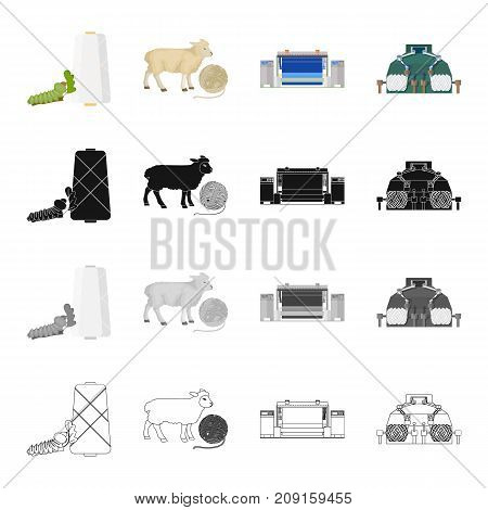 Bench, tool, installation and other  icon in cartoon style.Machine, equipment, textile, icons in set collection