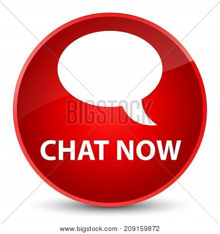 Chat Now Elegant Red Round Button