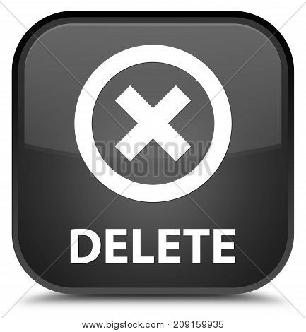 Delete Special Black Square Button