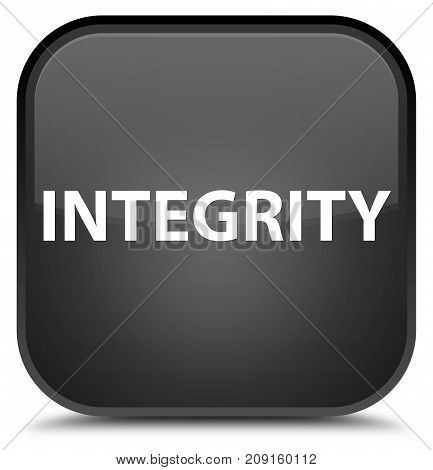 Integrity Special Black Square Button