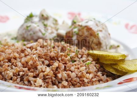 buckwheat with cutlets