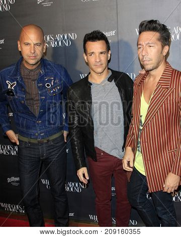 LOS ANGELES - OCT 11:  Claude Morais, George Kotsiopoulos, Brian Wolk at the What Goes Around Comes Around One Year at the What Goes Around Comes Around Store on October 11, 2017 in Beverly Hills, CA