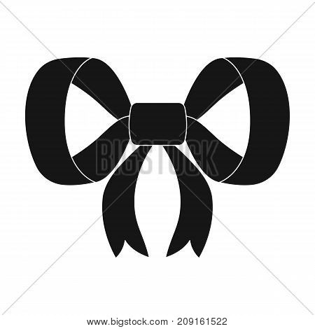 Knot, ribbon, decoration, and other  icon in black style. Textile, decor, gift icons in set collection