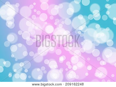 Pink Magenta Turquoise Green Bokeh Glitter Balloon Abstract Background