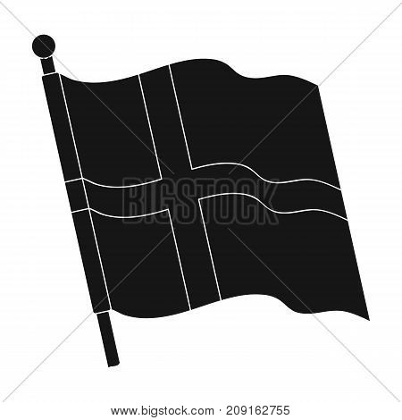 Flag, single icon in black style.Flag, vector symbol stock illustration .