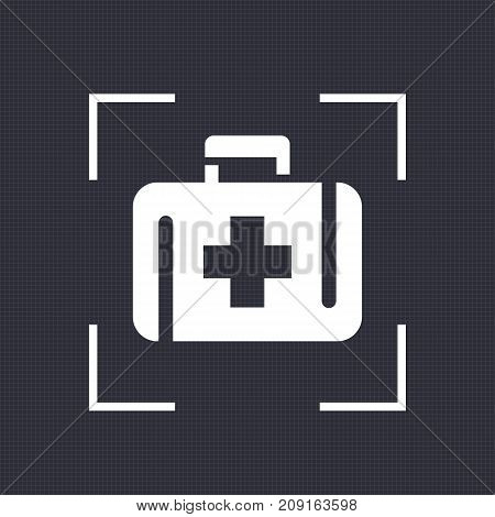 First aid kit icon, medicine chest vector sign, eps 10 file, easy to edit