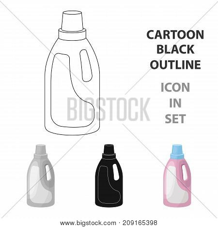 Laundry detergent icon in cartoon design isolated on white background. Cleaning symbol stock vector illustration.