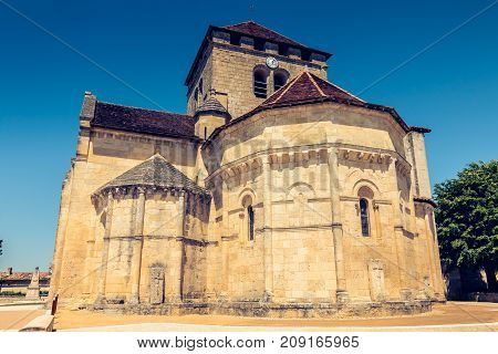 Detail Of Architecture Of The Church Saint Martin In Montagne A Small French Town Near Saint Emilion
