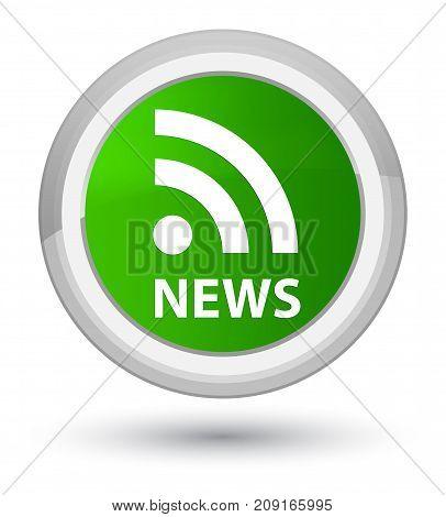 News (rss Icon) Prime Green Round Button