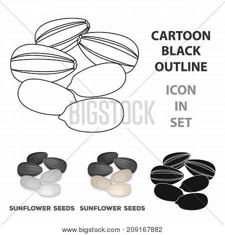 Sunflower seeds.Different kinds of nuts single icon in cartoon style vector symbol stock web illustration.