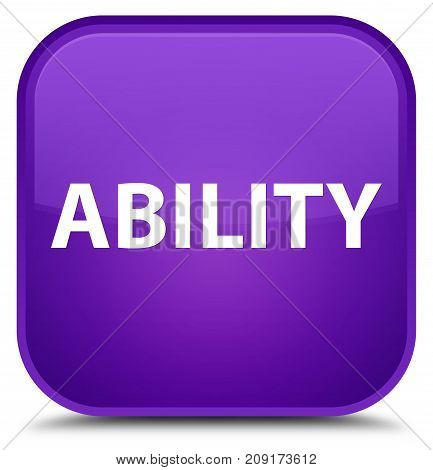 Ability Special Purple Square Button