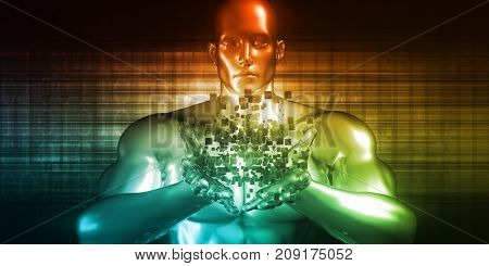 Big Data Analytics with Business Intelligence Results 3D Illustration Render