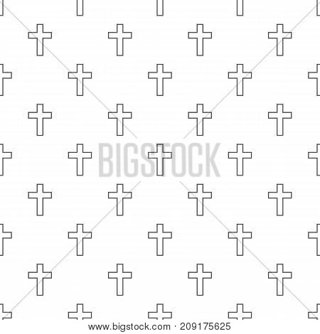 Catholic cross pattern seamless. Repeat illustration of catholic cross pattern vector geometric for any web design