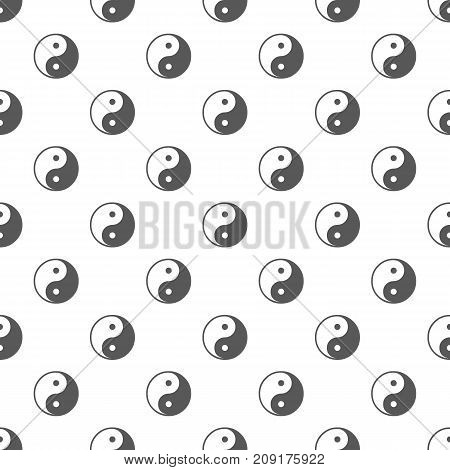 Ying yang symbol of harmony and balance pattern seamless. Repeat illustration of ying yang symbol pattern vector geometric for any web design