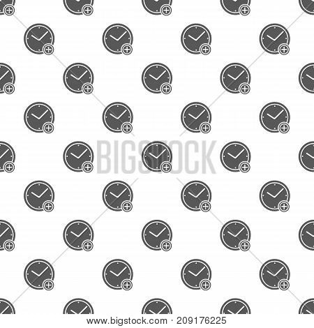 Time plus pattern seamless. Repeat illustration of time plus pattern vector geometric for any web design