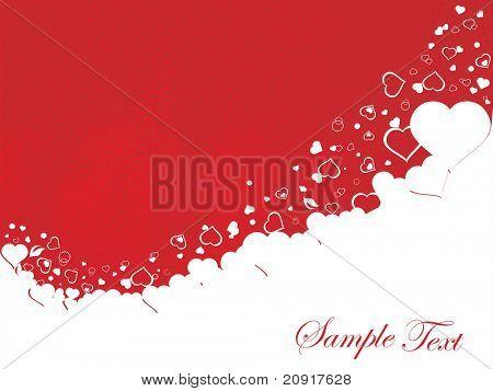 vector illustration of valentines ornament heart