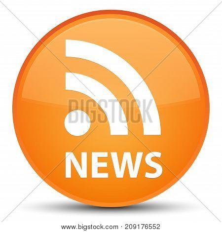 News (rss Icon) Special Orange Round Button