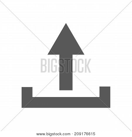 Upload icon. Simple illustration of upload vector icon black isolated on white background